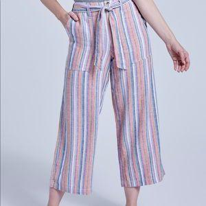Seven7 Wide Leg Colorful Striped Pant
